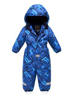 Комбинезон детский зимний синего цвета купить оптом в интернет магазине MTFORCE 9025S