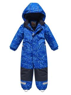 Комбинезон детский зимний синего цвета купить оптом в интернет магазине MTFORCE 9023S