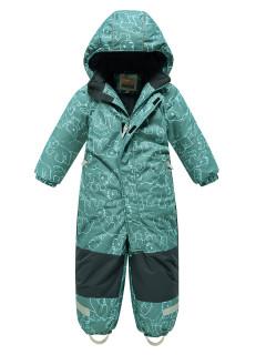 Комбинезон детский зимний зеленого цвета купить оптом в интернет магазине MTFORCE 9023Z