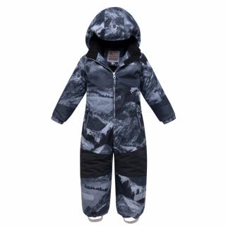 Комбинезон подростковый для мальчика зимний серого цвета купить оптом в интернет магазине MTFORCE 8907Sr