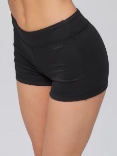 Спортивные шорты женские летние черного цвета купить оптом в интернет магазине MTFORCE 6004Ch