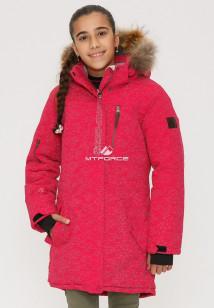 Купить оптом куртку парку зимнию подростковую для девочки розового цвета G27R в интернет магазине MTFORCE.RU