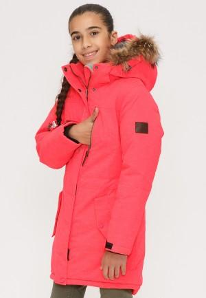 Купить оптом куртку парку зимнию подростковую для девочки персикового цвета G27P в интернет магазине MTFORCE.RU