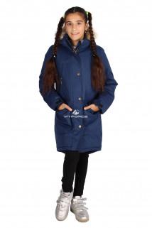 Купить оптом куртку парку зимнию подростковую для девочки темно-синего цвета G61TS в интернет магазине MTFORCE.RU