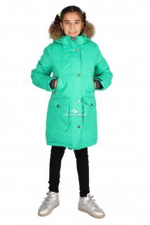 Купить оптом куртку парку зимнию подростковую для девочки зеленого цвета G61Z в интернет магазине MTFORCE.RU