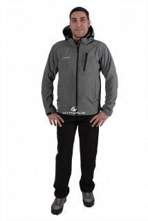 Купить оптом костюм виндстопер мужской серого цвета  01732Sr в интернет магазине MTFORCE.RU