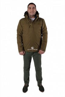 Купить оптом куртку мужскую осень весна  цвета хаки 1718-1Kh в интернет магазине MTFORCE.RU