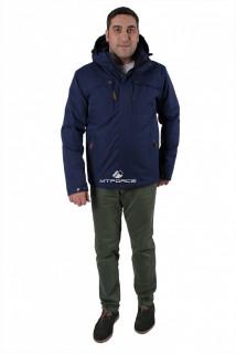 Купить оптом куртку мужскую осень весна темно-синего цвета 1718-1TS в интернет магазине MTFORCE.RU