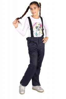 Купить оптом брюки горнолыжные подростковые для девочки черного цвета 816TS в интернет магазине MTFORCE.RU