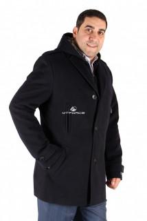 Купить оптом полупальто мужское темно-синего цвета Км-01ТS в интернет магазине MTFORCE.RU