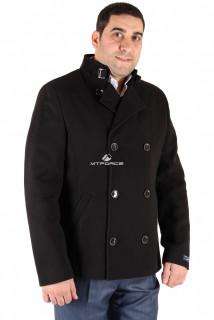 Купить оптом полупальто мужское черного цвета Кс-20Ch в интернет магазине MTFORCE.RU