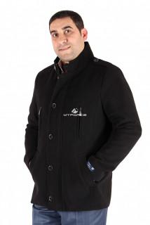 Купить оптом полупальто мужское черного цвета Кс-24Ch в интернет магазине MTFORCE.RU