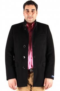 Купить оптом полупальто мужское черного цвета Кс-22Ch в интернет магазине MTFORCE.RU