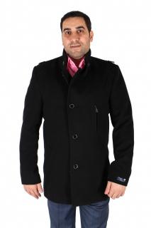 Купить оптом полупальто мужское черного цвета Кс-25Ch в интернет магазине MTFORCE.RU