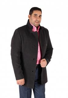 Купить оптом полупальто мужское серого цвета Кс-25Sr в интернет магазине MTFORCE.RU