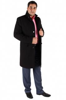 Купить оптом пальто мужское черного цвета M-23Ch в интернет магазине MTFORCE.RU