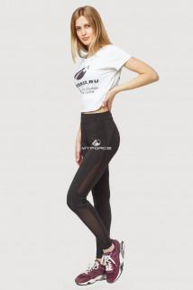Купить оптом брюки легинсы женские черного цвета 192Ch  в интернет магазине MTFORCE.RU
