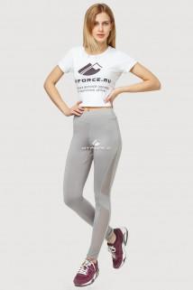 Купить оптом брюки легинсы женские серого цвета 192Sr  в интернет магазине MTFORCE.RU