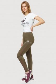 Купить оптом брюки легинсы женские цвета хаки 192Kh  в интернет магазине MTFORCE.RU