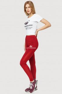 Купить оптом брюки легинсы женские бордового цвета 192Bo  в интернет магазине MTFORCE.RU