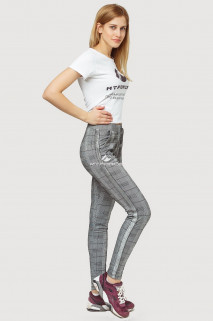 Купить оптом брюки женские классические серого цвета 199Sr  в интернет магазине MTFORCE.RU