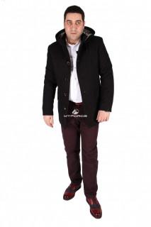 Купить оптом полупальто мужское черного цвета M27Ch в интернет магазине MTFORCE.RU
