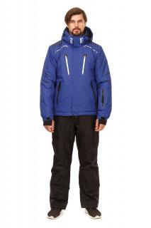 Купить оптом костюм горнолыжный мужской синего цвета 01748S в интернет магазине MTFORCE.RU