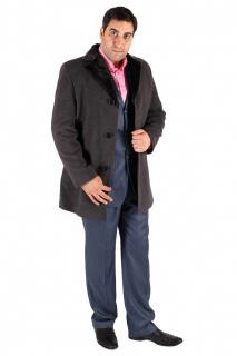 Купить оптом пальто мужское серого цвета Mc-17Sr в интернет магазине MTFORCE.RU