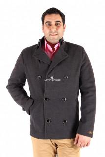 Купить оптом полупальто мужское серого цвета Мс-20Sr в интернет магазине MTFORCE.RU