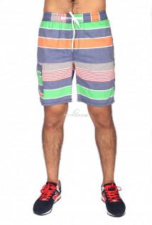 Купить оптом спортивные шорты оранжевого цвета S11Ol в интернет магазине MTFORCE.RU