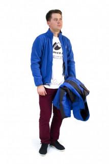 Купить оптом куртка мужская три в одном синего цвета 86241S в интернет магазине MTFORCE.RU