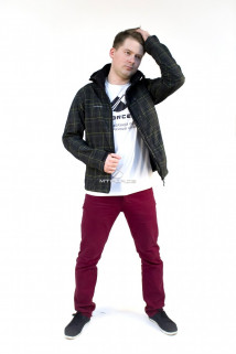 Купить оптом ветровка - виндстоппер мужская черного цвета 1682Ch в интернет магазине MTFORCE.RU