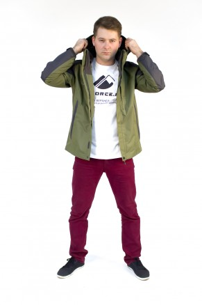 Купить оптом куртка мужская три в одном зеленого цвета 86241Z в интернет магазине MTFORCE.RU