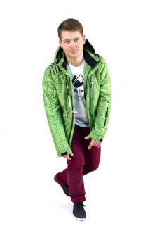 Купить оптом куртку мужскую осень весна зеленого цвета 1718Z в интернет магазине MTFORCE.RU