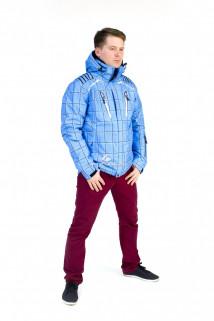 Купить оптом куртку мужскую осень весна голубого цвета 1718Gl в интернет магазине MTFORCE.RU
