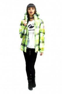 Куртка спортивная женская осень весна салатового цвета 17211Sl в интернет магазине MTFORCE.RU