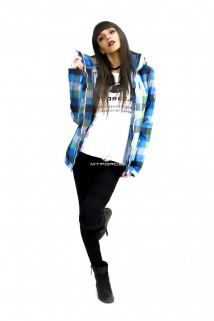 Куртка спортивная женская осень весна голубого цвета 17211Gl в интернет магазине MTFORCE.RU