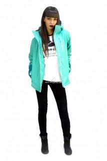 Куртка спортивная женская осень весна зеленого цвета 1714Z в интернет магазине MTFORCE.RU