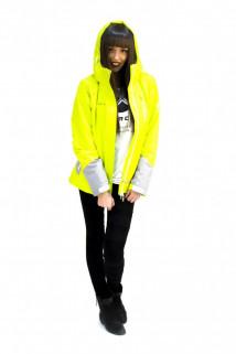 Куртка спортивная женская осень весна  желтого цвета 1713J в интернет магазине MTFORCE.RU