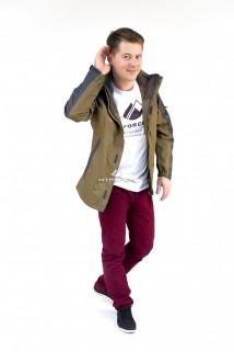 Купить оптом куртка мужская три в одном цвета хаки 86241Kh в интернет магазине MTFORCE.RU