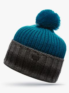 Купить оптом вязанную шапку зимнюю темно-зеленного цвета в интернет магазине MTFORCE 5901TZ