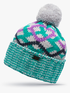 Купить оптом вязанную шапку зимнюю бирюзового цвета в интернет магазине MTFORCE 5902Br