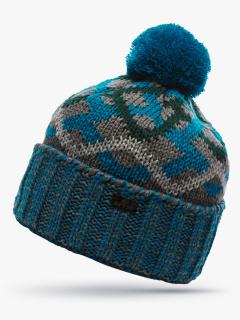 Купить оптом вязанную шапку зимнюю темно-зеленного цвета в интернет магазине MTFORCE 5902TZ