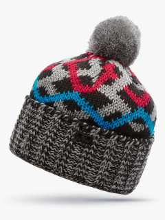 Купить оптом вязанную шапку зимнюю красного цвета в интернет магазине MTFORCE 5902Kr