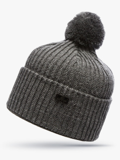 Купить оптом вязанную шапку зимнюю серого цвета в интернет магазине MTFORCE 5903Sr