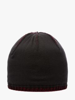 Купить оптом вязанную шапку зимнюю бордового цвета в интернет магазине MTFORCE 5903Bo