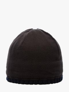 Купить оптом вязанную шапку зимнюю темно-синего цвета в интернет магазине MTFORCE 5904TS