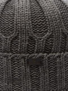 Купить оптом вязанную шапку зимнюю серого цвета в интернет магазине MTFORCE 5904Sr