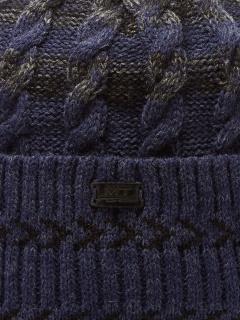 Купить оптом вязанную шапку зимнюю темно-синего цвета в интернет магазине MTFORCE 5907TS