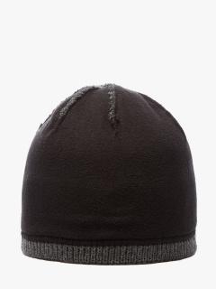 Купить оптом вязанную шапку зимнюю серого цвета в интернет магазине MTFORCE 5908Sr